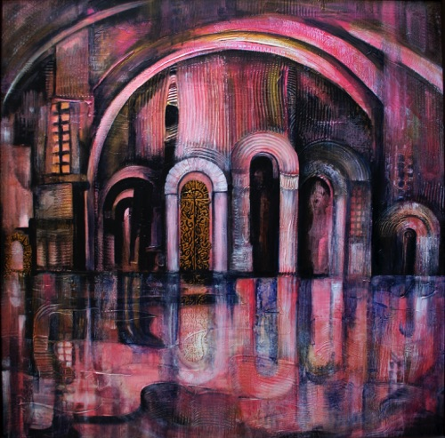Venice High Tide - canvas 36x36